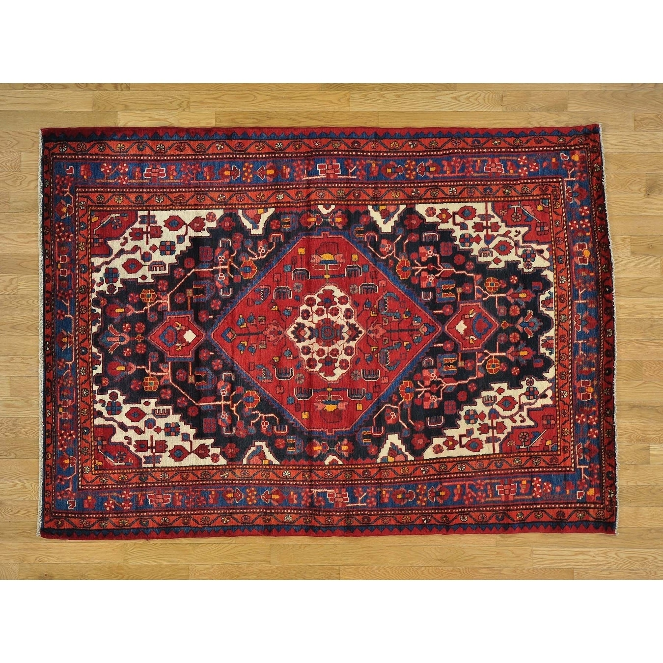 Hand Knotted Black Persian with Wool Oriental Rug - 55 x 76
