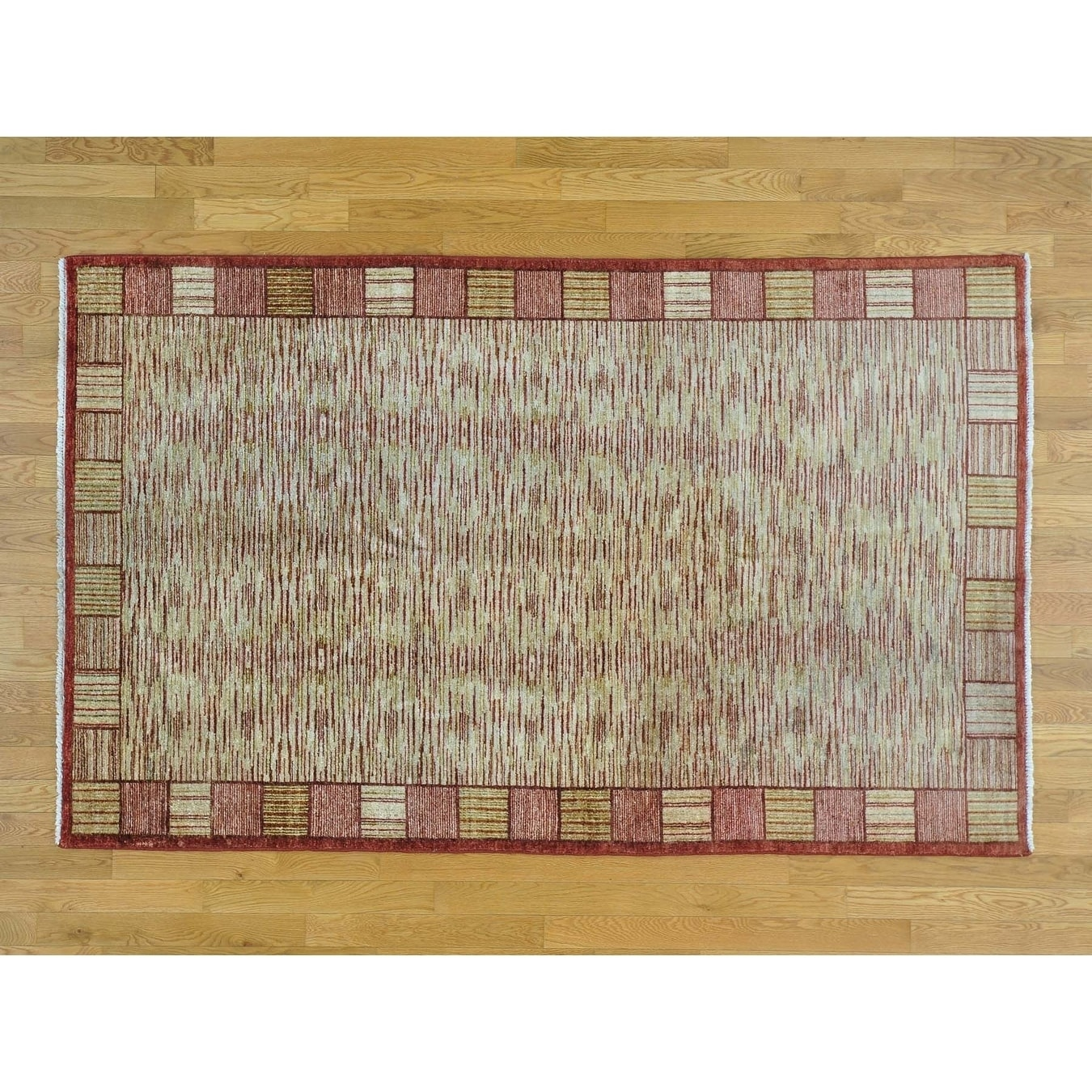 Hand Knotted Multicolored Clearance with Wool Oriental Rug - 5 x 81
