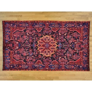 Hand Knotted Black Persian with Wool Oriental Rug - 5'6 x 9'6