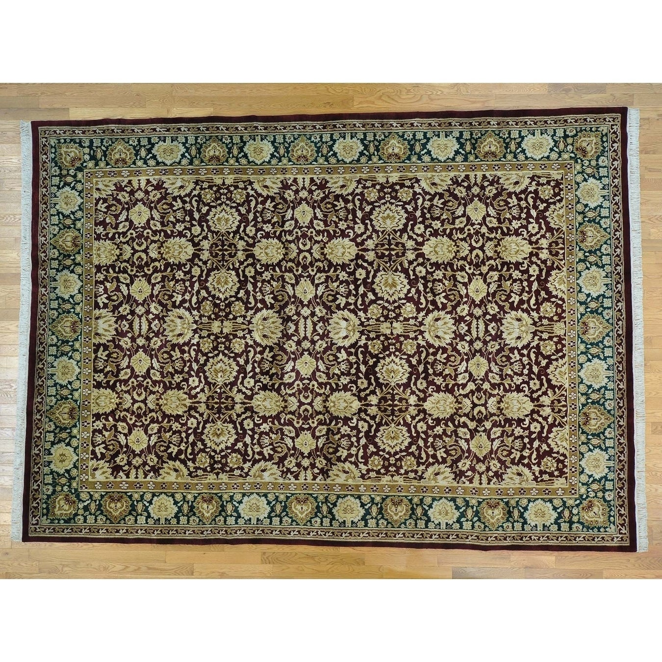 Hand Knotted Red Clearance with Wool Oriental Rug - 97 x 137