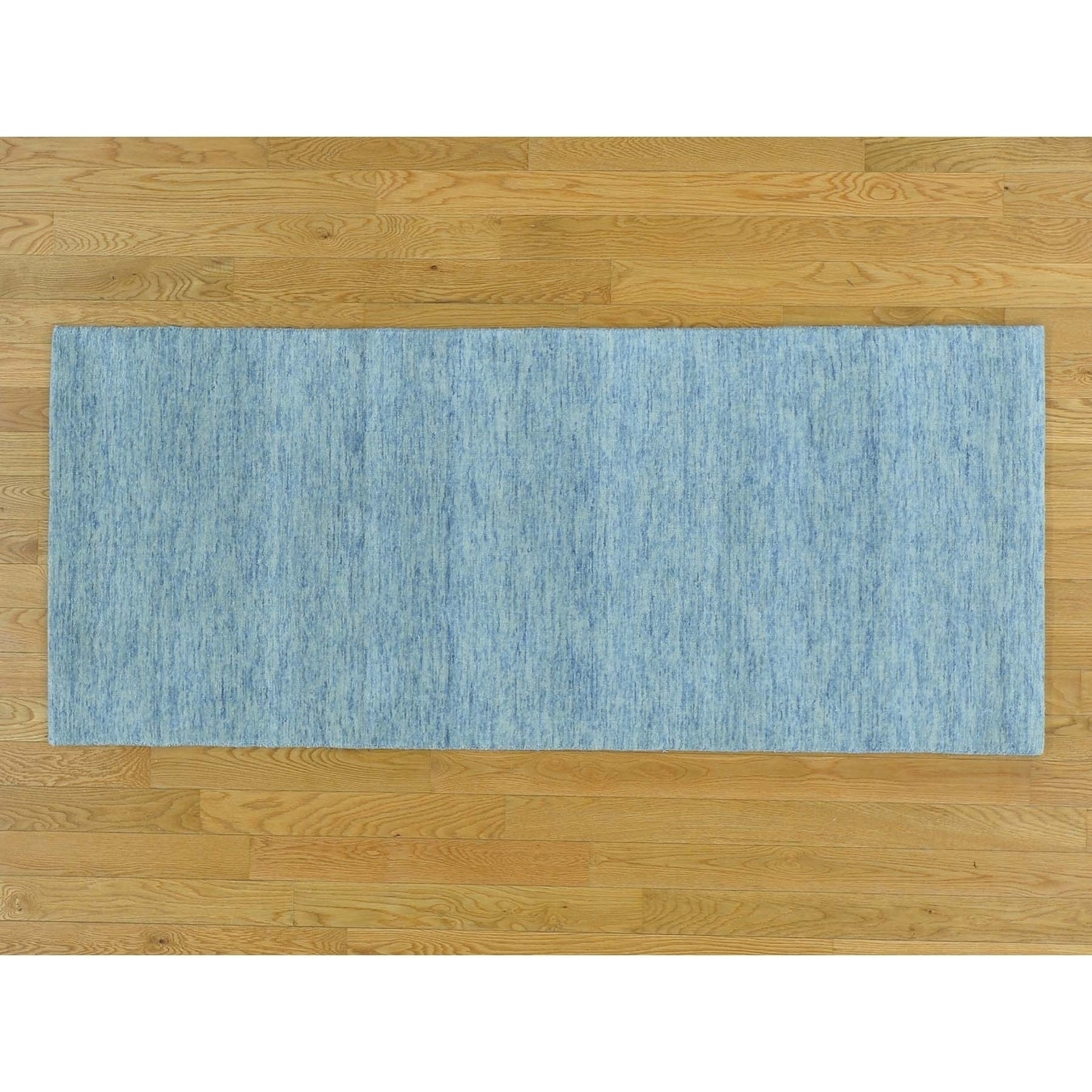 Hand Knotted Grey Modern & Contemporary with Wool Oriental Rug - 27 x 61