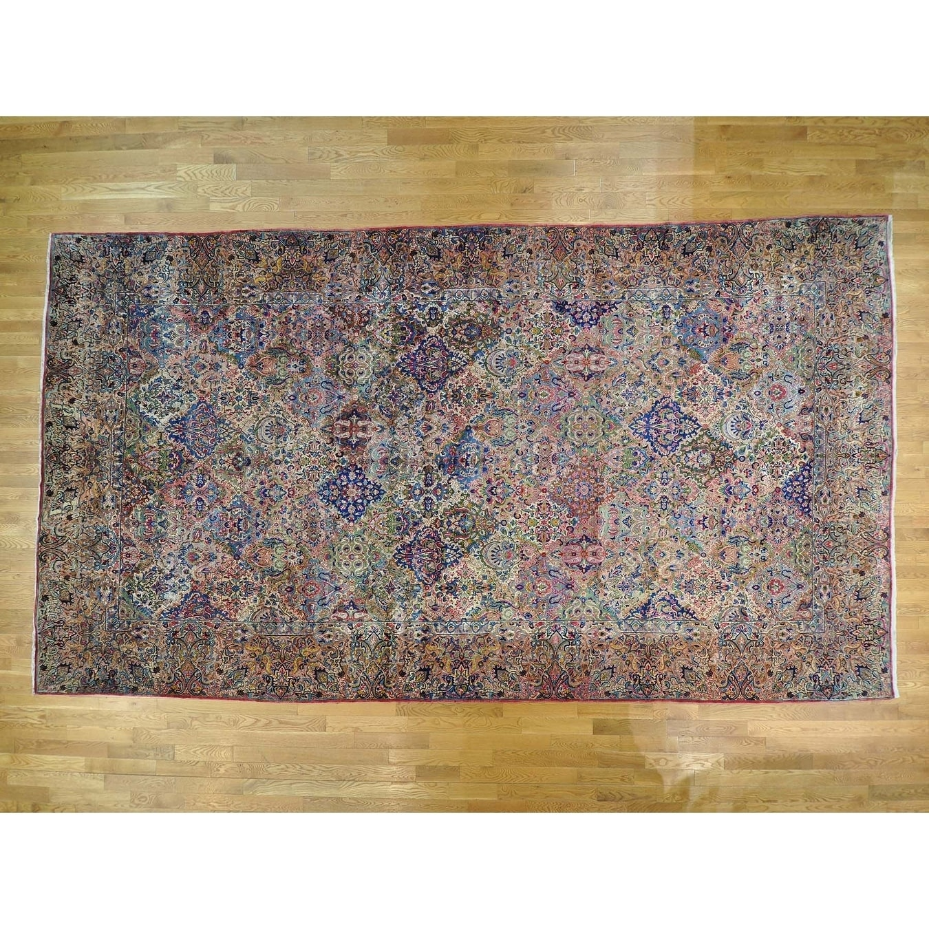 Hand Knotted Multicolored Persian with Wool Oriental Rug