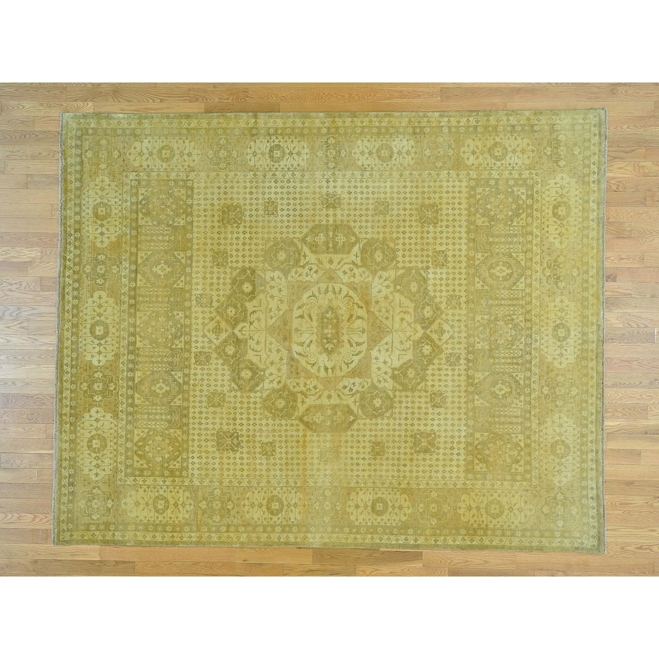 Hand Knotted Yellow Mamluk with Wool Oriental Rug - 8 x 10
