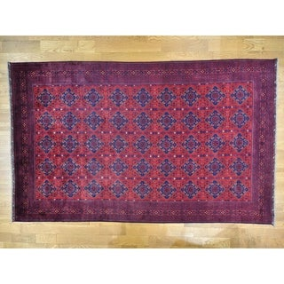 Hand Knotted Red Tribal & Geometric with Wool Oriental Rug (10' x 15'8)