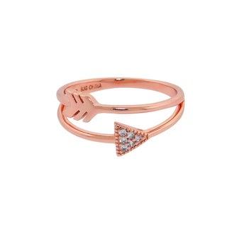 Eternally Haute 14k Rose Gold plated Cupids Arrow Wrap Ring