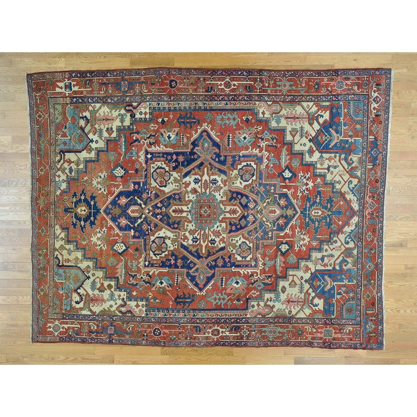 Hand Knotted Red Antique with Wool Oriental Rug
