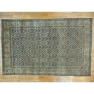 Hand Knotted Blue Antique with Wool Oriental Rug (10'10 x 17')