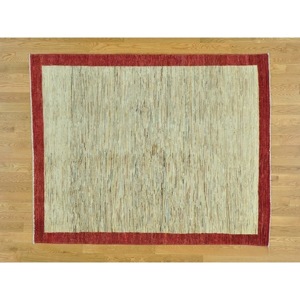 Shop Beige Wool Hand Knotted Oriental Persian Area Rug 6: Shop Hand Knotted Beige Modern & Contemporary With Wool