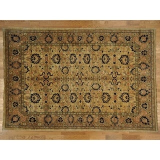 Hand Knotted Beige Clearance with Wool Oriental Rug (10'1 x 15')