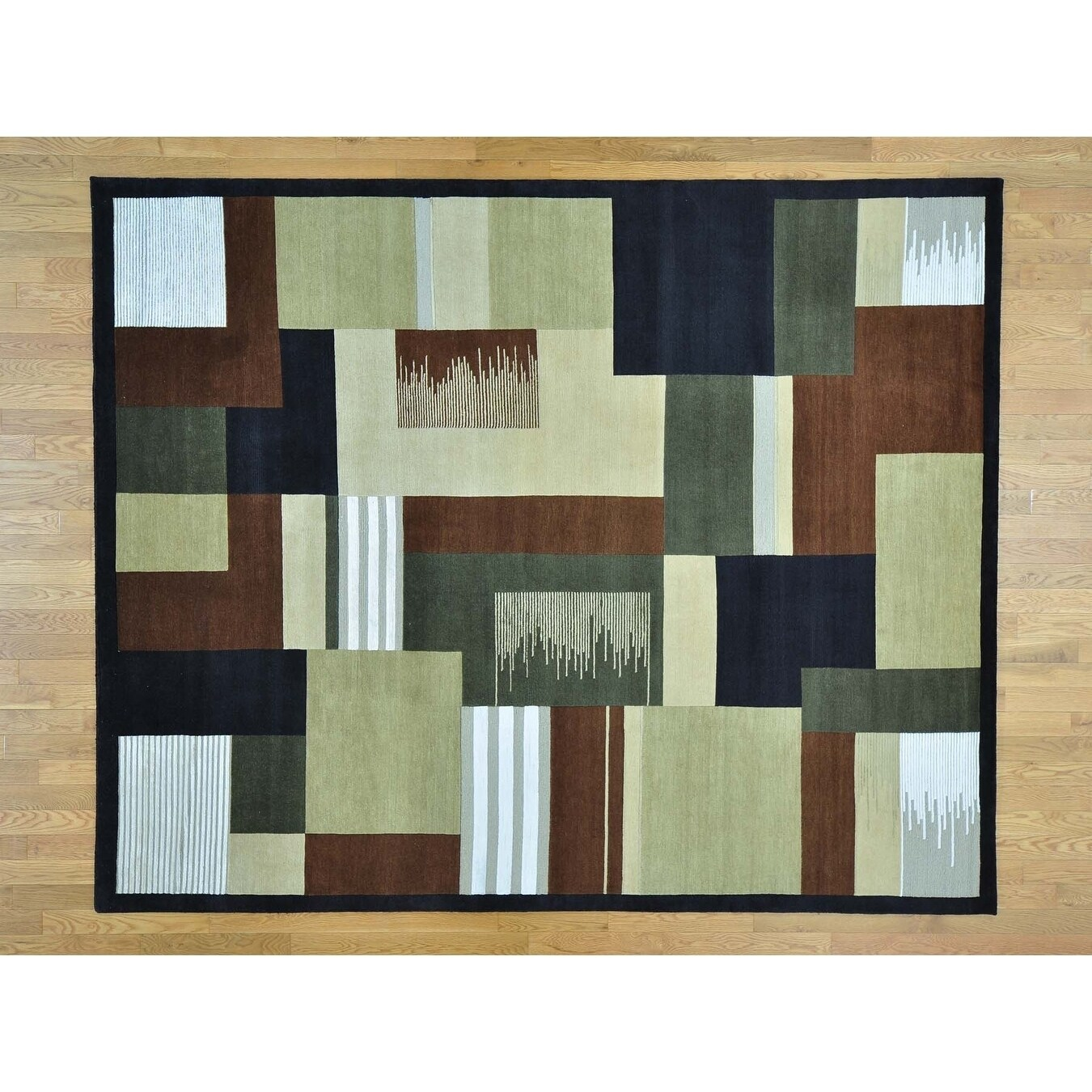 Hand Knotted Multicolored Clearance with Wool & Silk Oriental Rug - 8 x 910