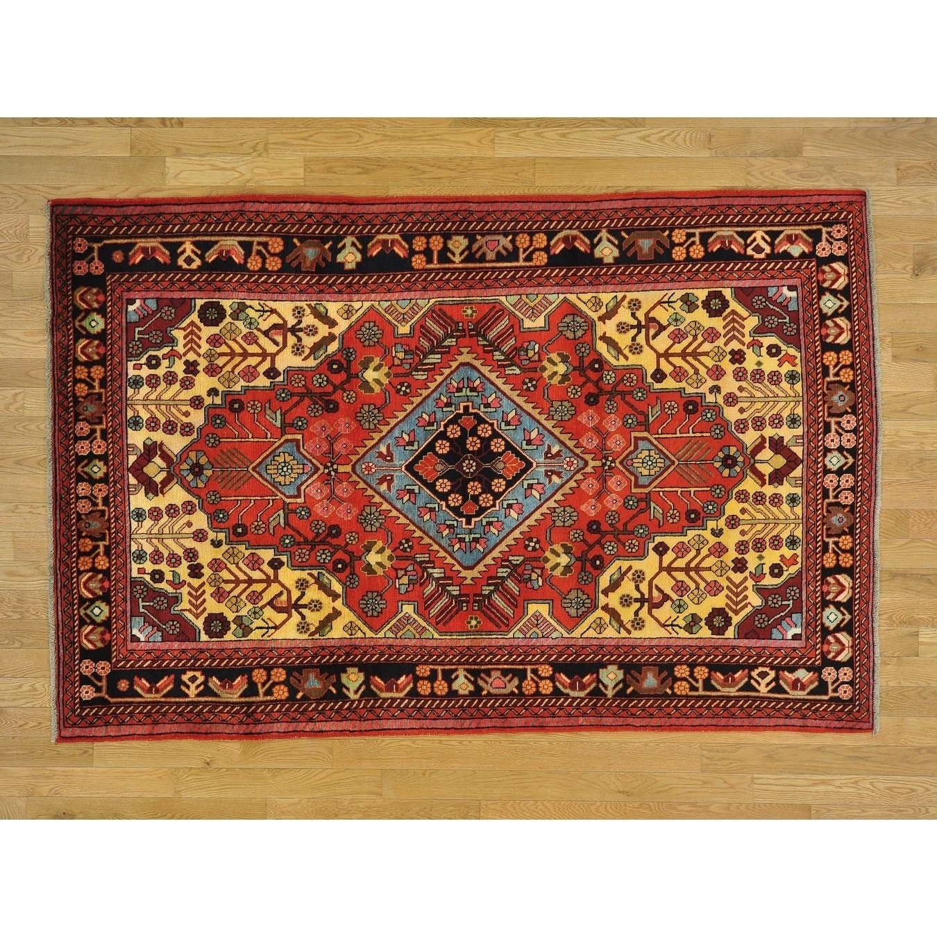 Hand Knotted Red Persian with Wool Oriental Rug - 5 x 78