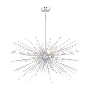 6 Light Assembled Sputnik Chandelier in Chrome finish