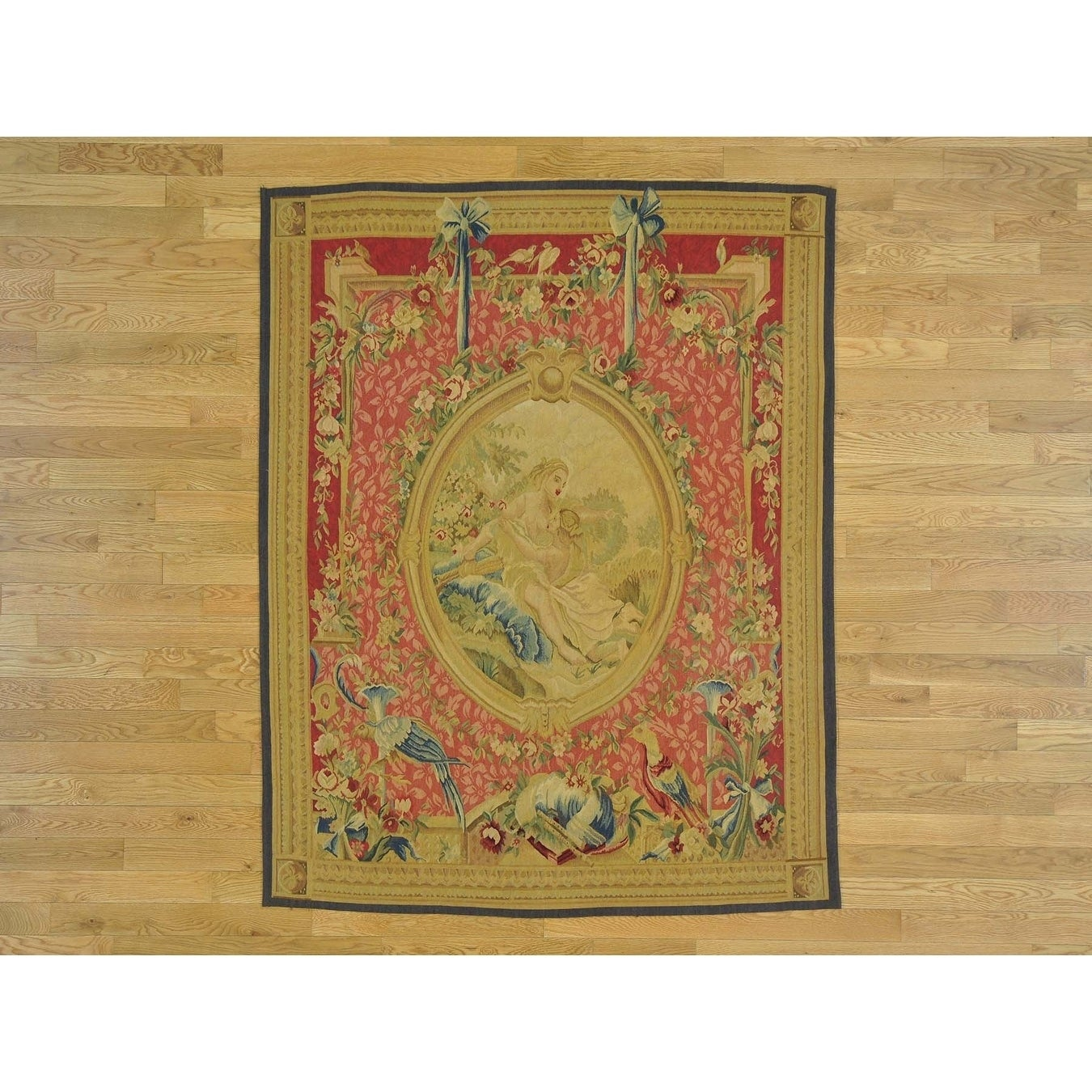 Hand Knotted Pink European with Wool Oriental Rug - 5 x 63