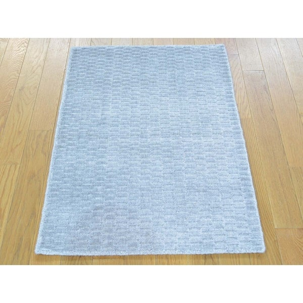 Wool Silk Rugs Contemporary: Shop Hand Knotted Grey Modern & Contemporary With Wool