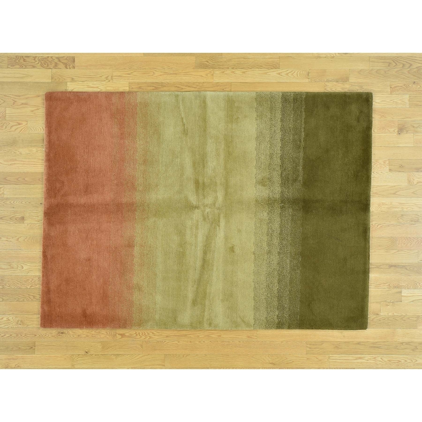 Hand Knotted Multicolored Modern & Contemporary with Wool Oriental Rug - 5 x 7