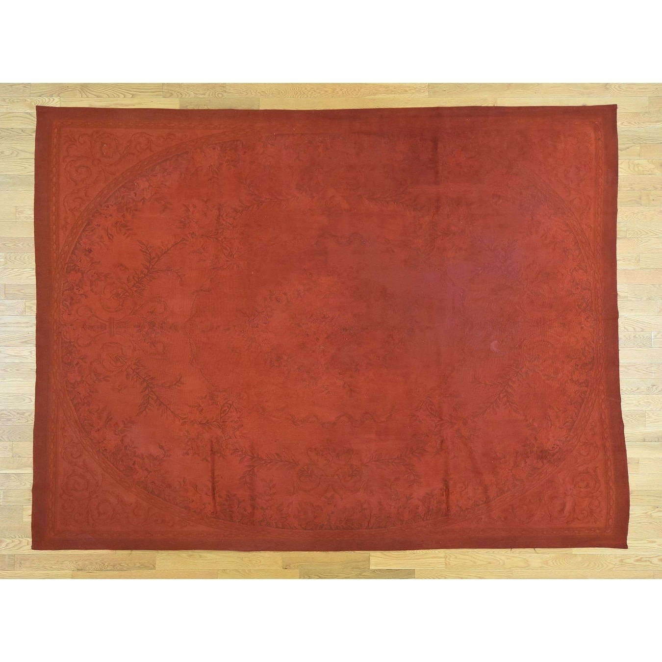Hand Knotted Red European with Wool Oriental Rug - 78 x 103