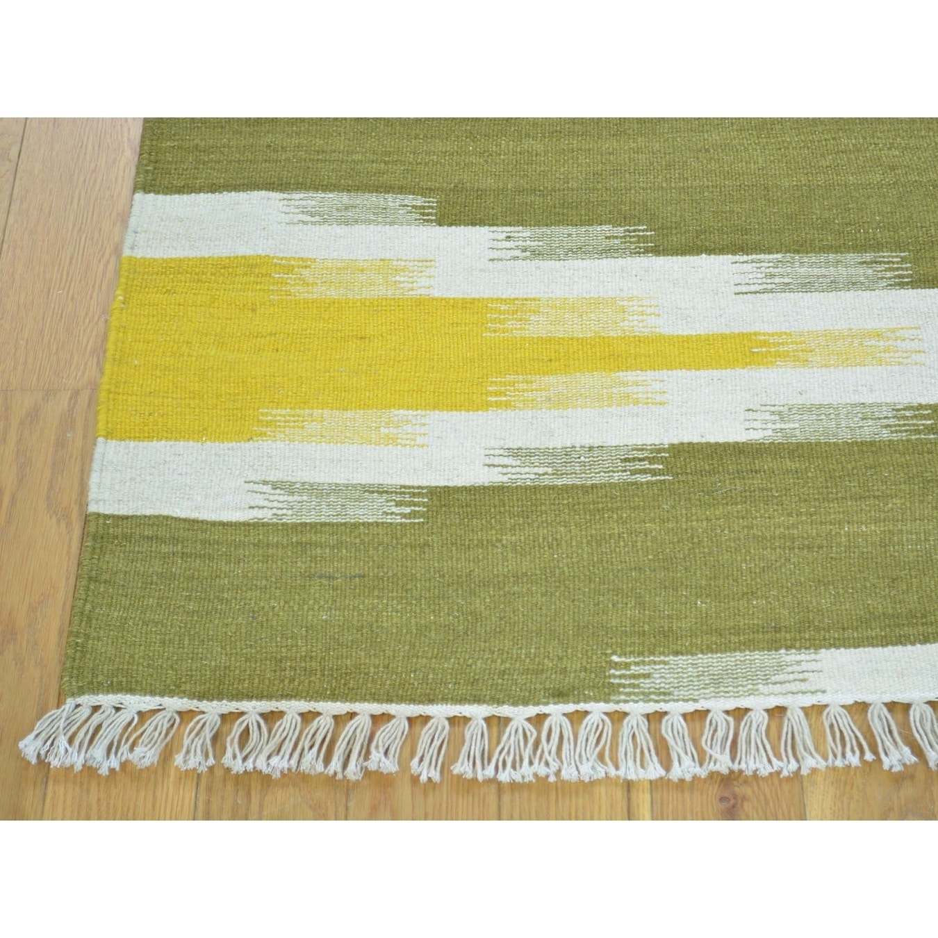 Hand Knotted Multicolored Flat Weave with Wool Oriental Rug - 41 x 63