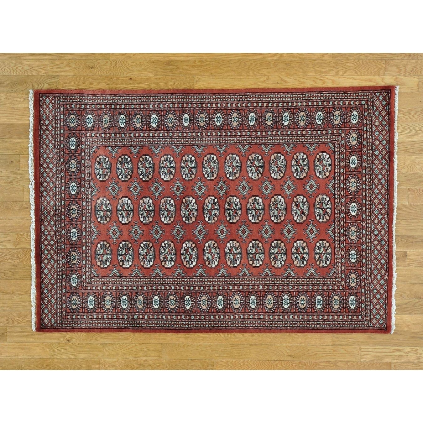 Hand Knotted Red Tribal & Geometric with Wool Oriental Rug - 42 x 62