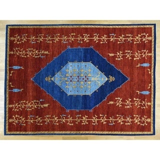 Hand Knotted Red Fine Oriental with Wool Oriental Rug - 10'3 x 14'