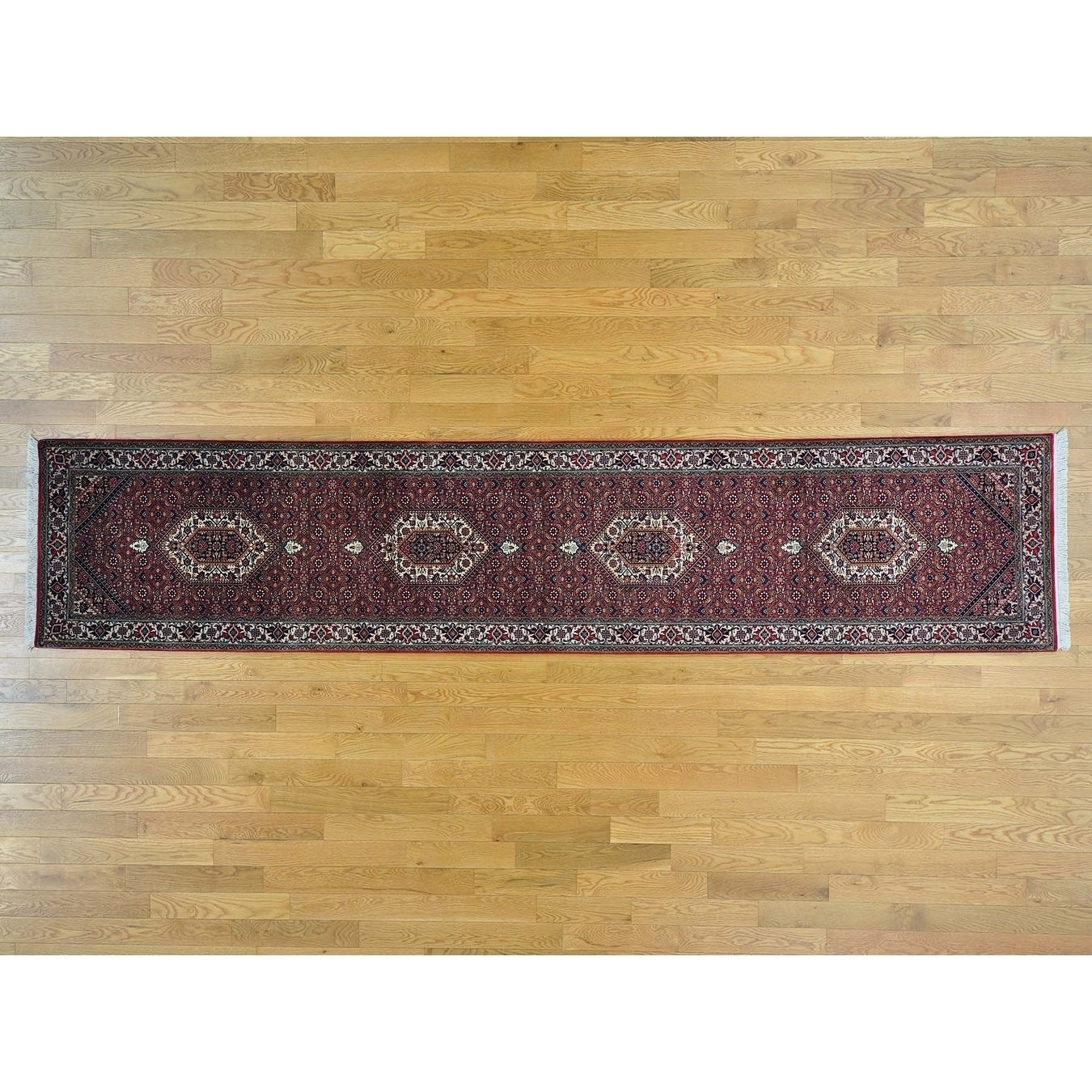 Hand Knotted Red Fine Oriental with Wool & Silk Oriental Rug