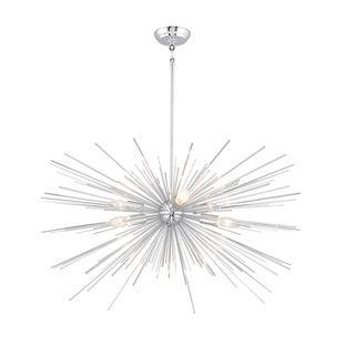 6 Light Sputnik Chandelier in Chrome finish