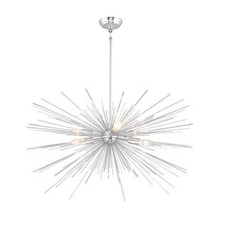 Y-Decor Sputnik Chrome-finished Steel 6-light Chandelier