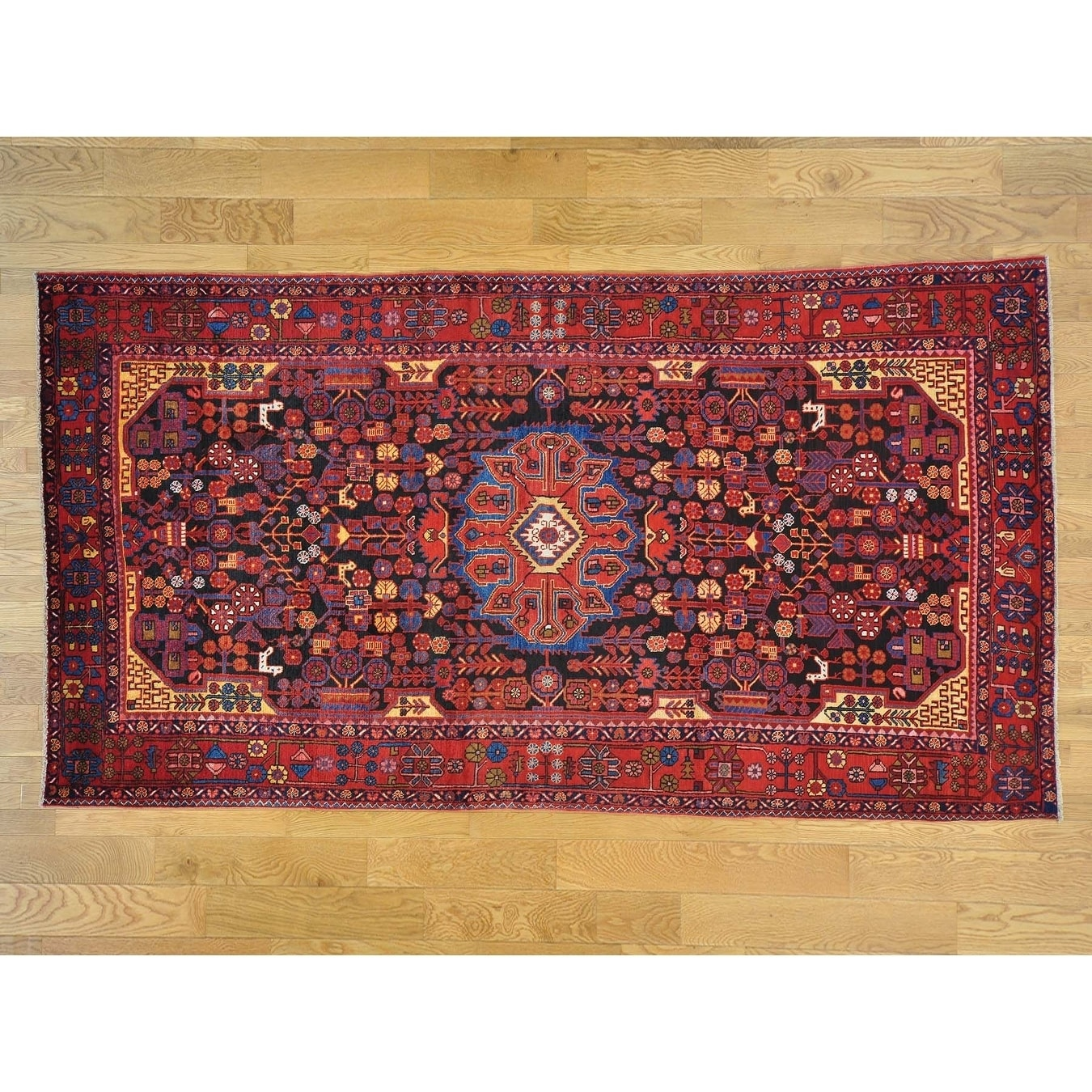 Hand Knotted Black Persian with Wool Oriental Rug - 58 x 107