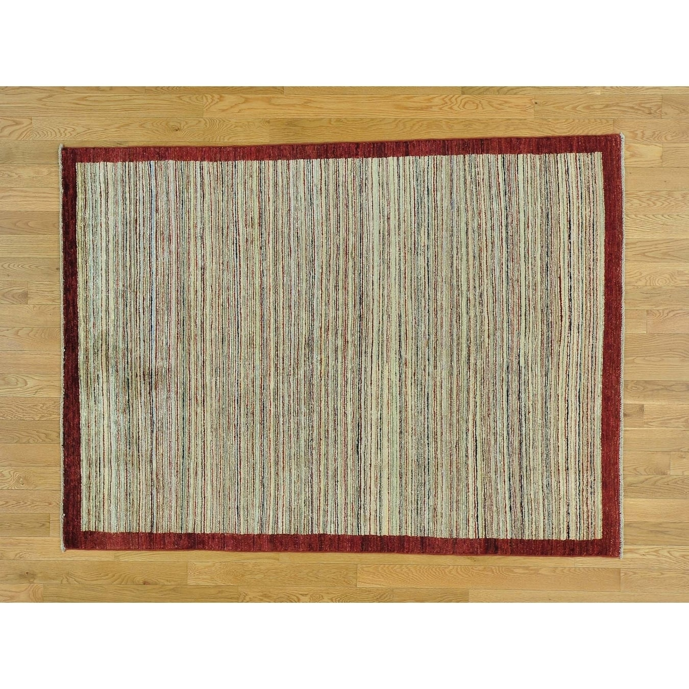 Hand Knotted Multicolored Modern & Contemporary with Wool Oriental Rug - 49 x 65