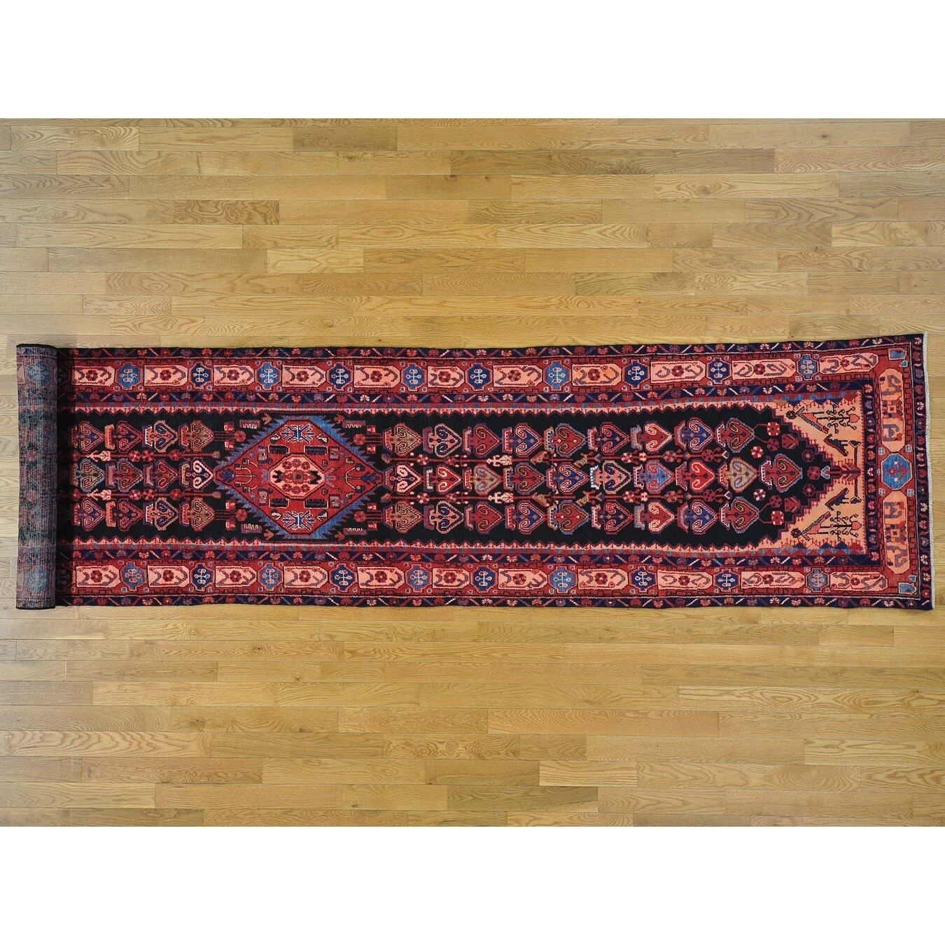 Hand Knotted Black Persian with Wool Oriental Rug