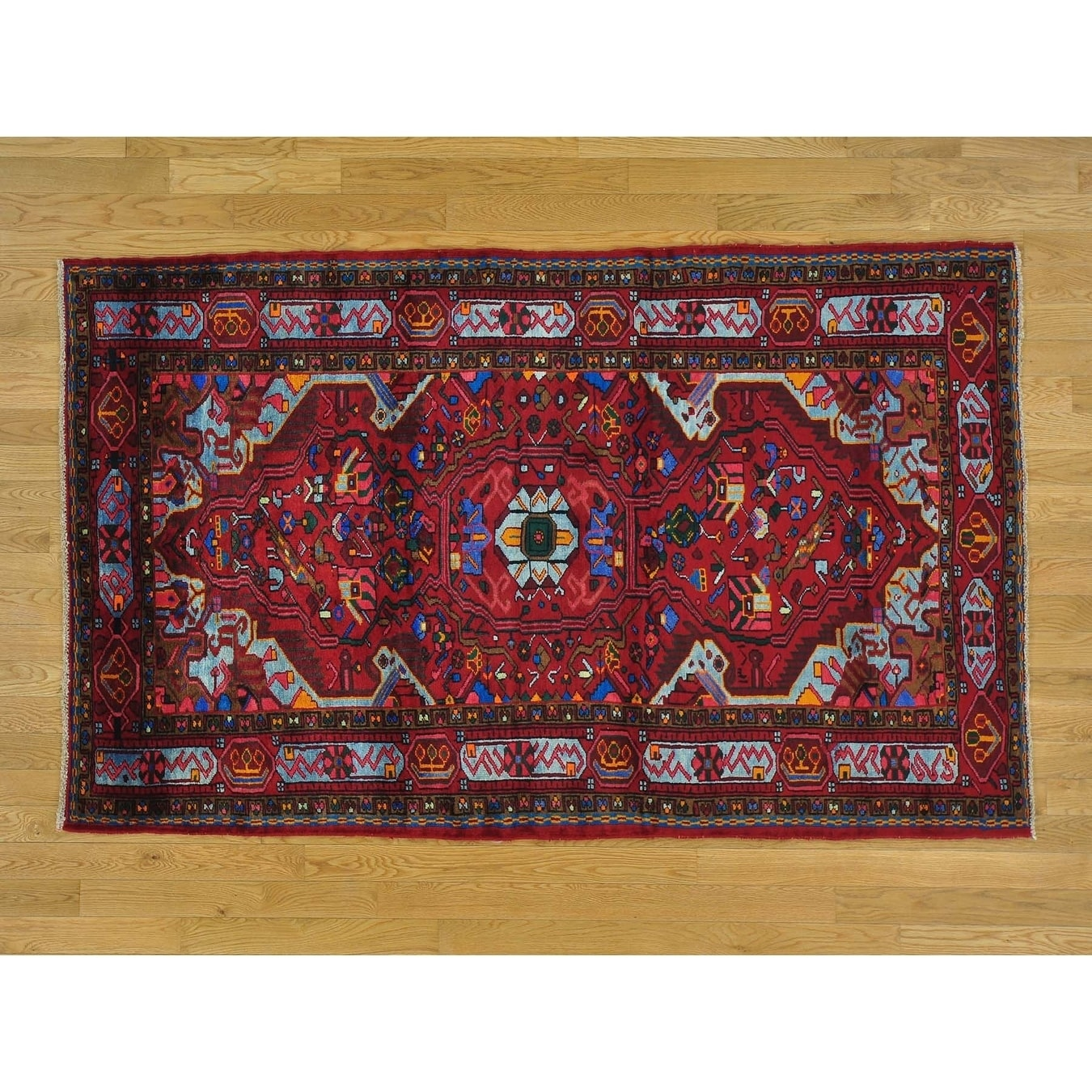 Hand Knotted Red Persian with Wool Oriental Rug - 45 x 72