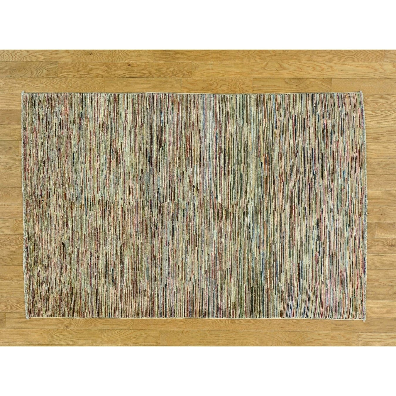 Hand Knotted Multicolored Modern & Contemporary with Wool Oriental Rug - 310 x 510