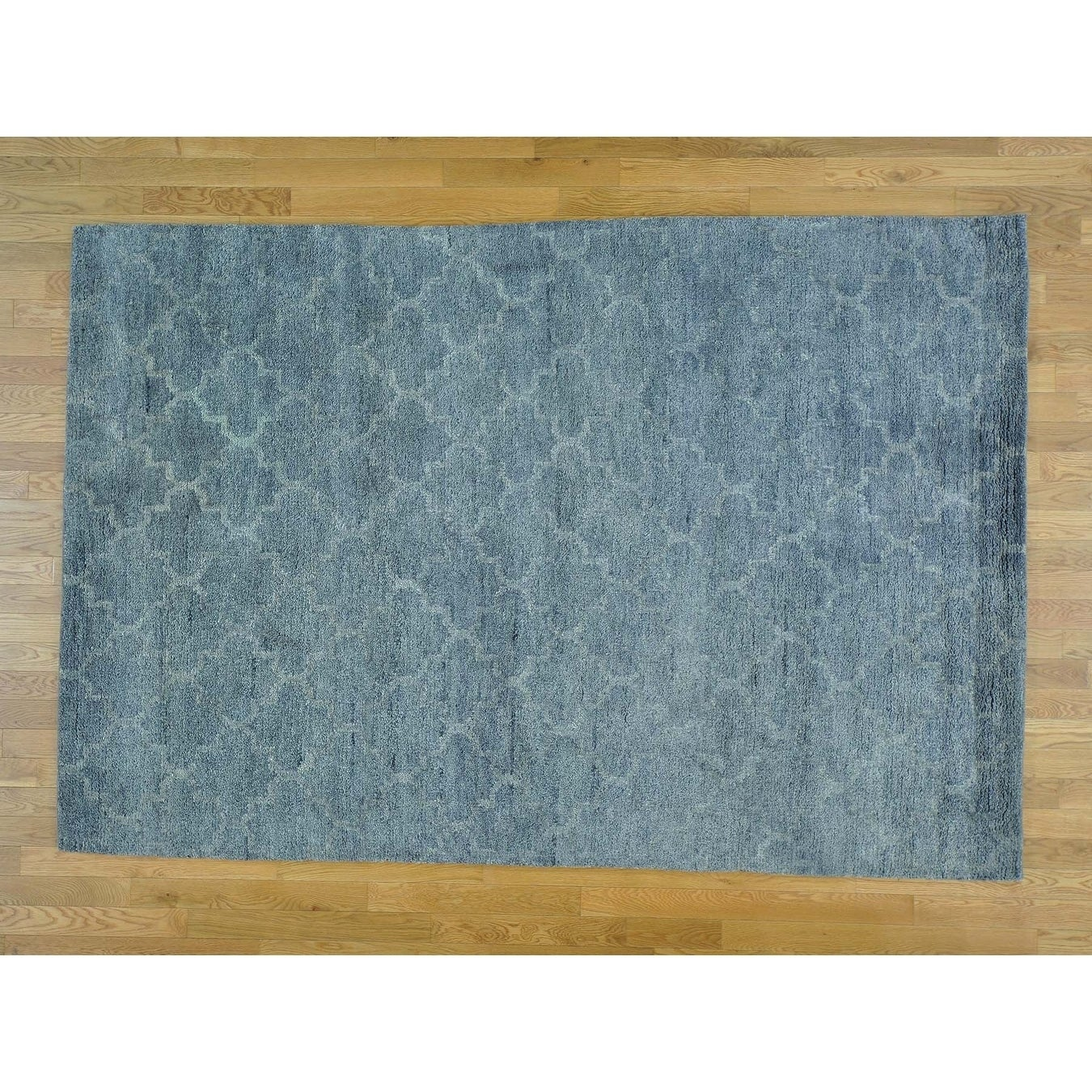 Hand Knotted Grey Modern & Contemporary with Wool Oriental Rug - 6 x 9