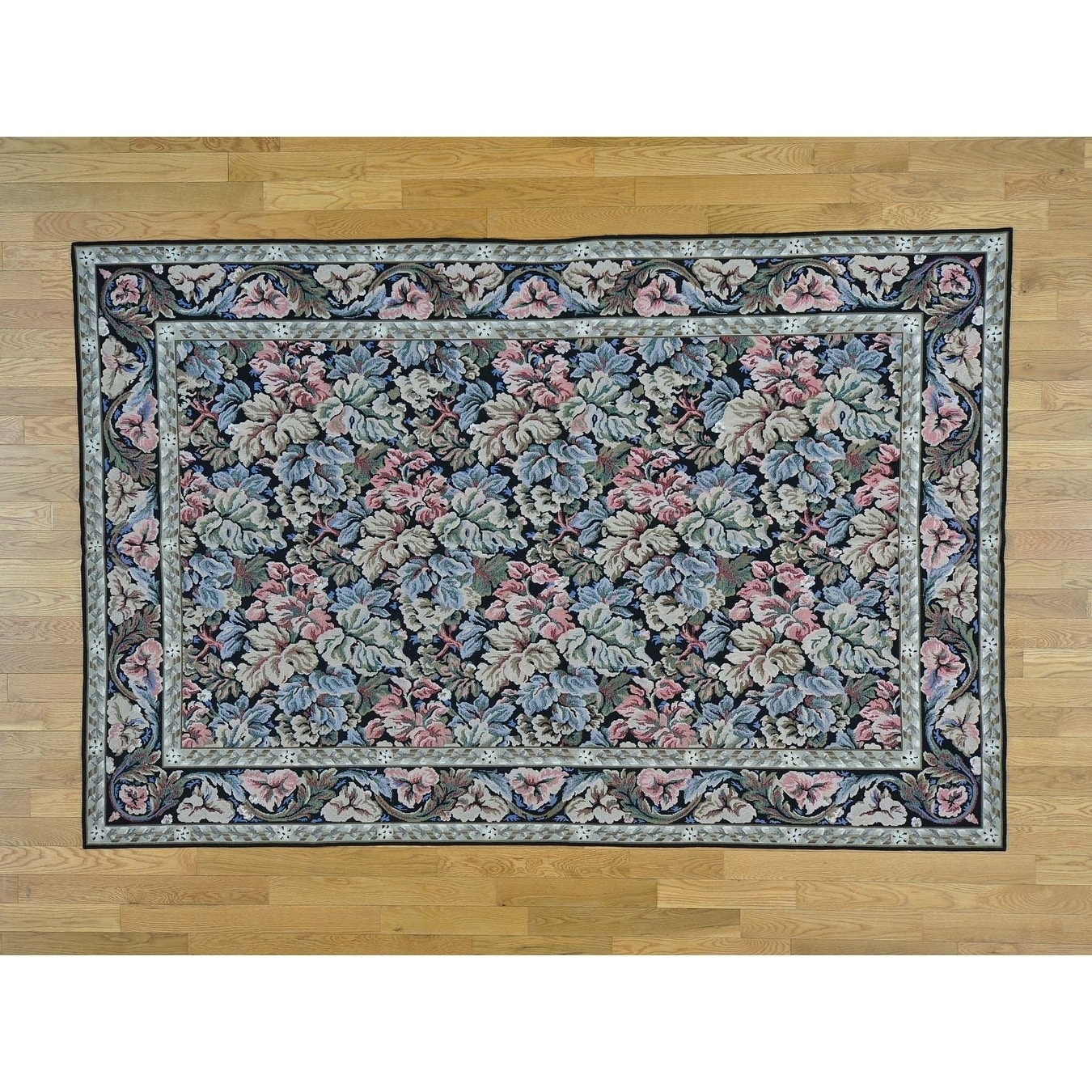 Hand Knotted Black European with Wool Oriental Rug - 59 x 89