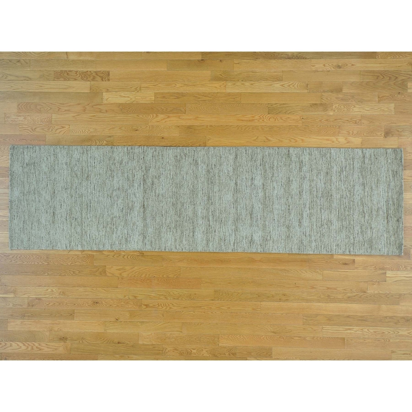 Hand Knotted Beige Modern & Contemporary with Wool Oriental Rug - 27 x 99