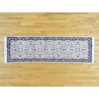 Hand Knotted Ivory Clearance with Wool Oriental Rug - 2'8 x 8'8