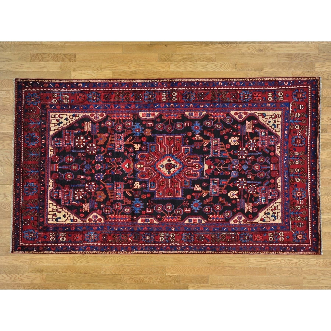 Hand Knotted Black Persian with Wool Oriental Rug - 54 x 94