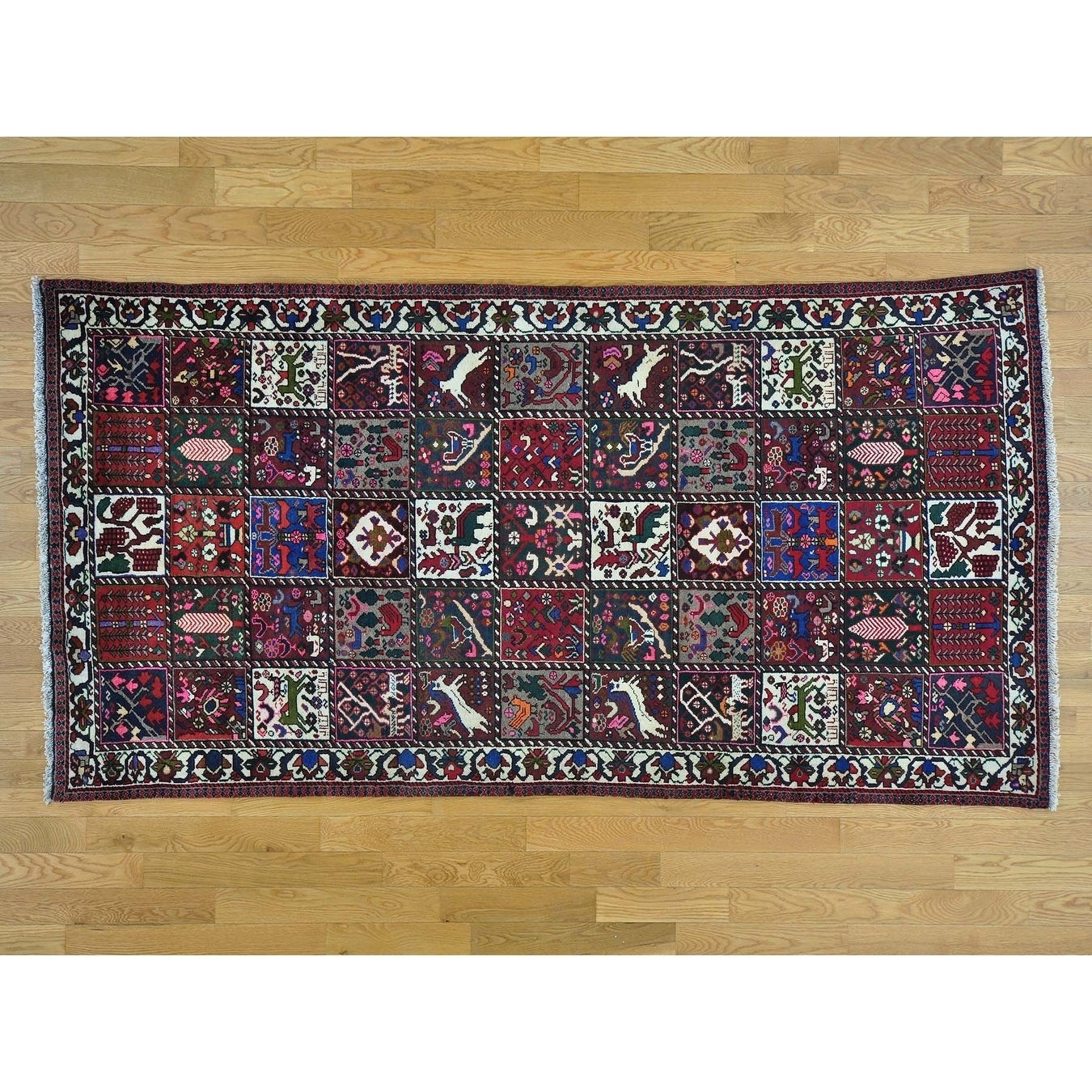 Hand Knotted Multicolored Persian with Wool Oriental Rug - 5 x 97