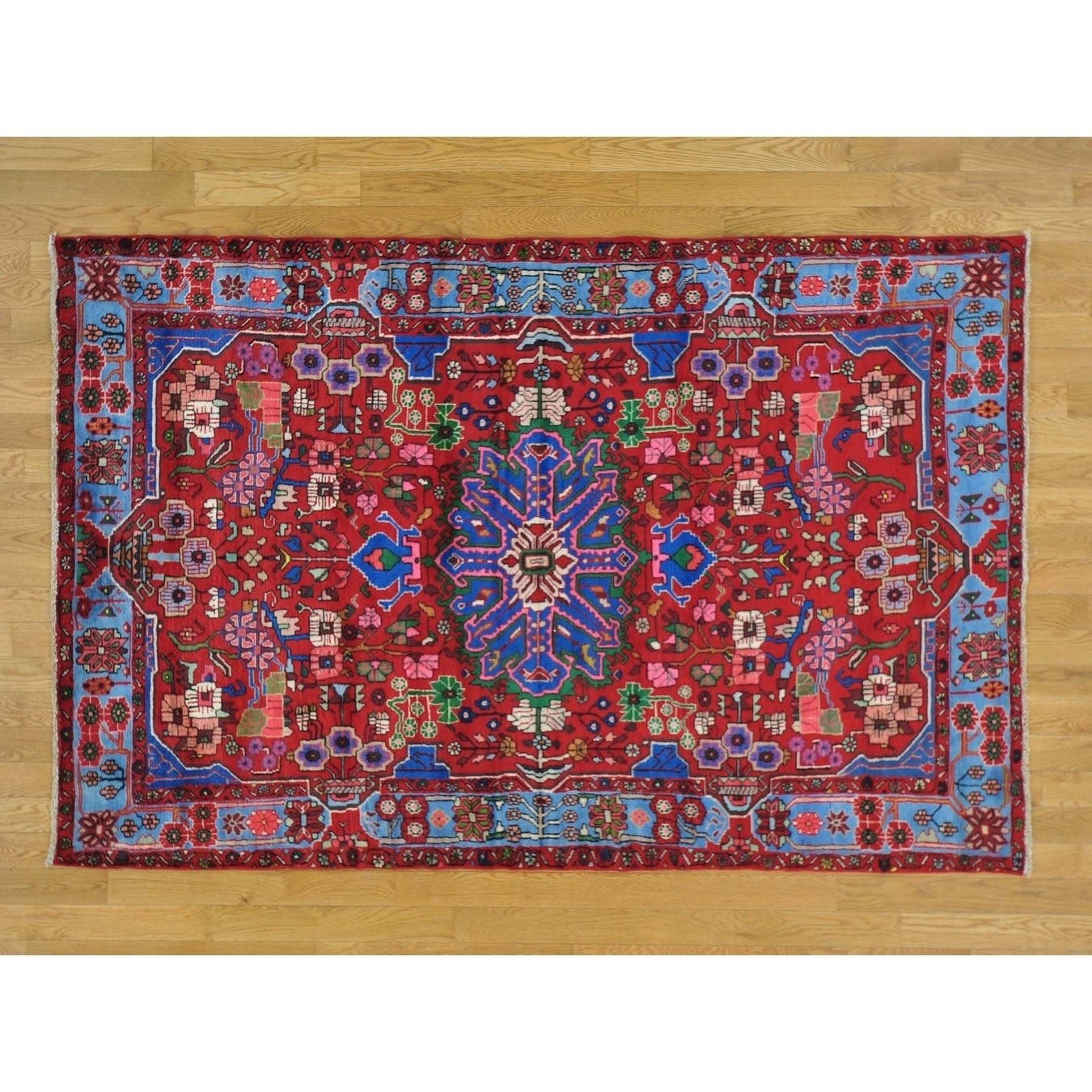 Hand Knotted Red Persian with Wool Oriental Rug - 410 x 76