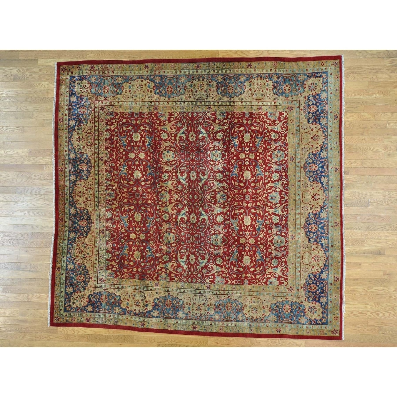 Hand Knotted Red Persian with Wool Oriental Rug - 910 x 101