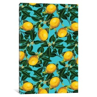 "iCanvas ""Lemon And Leaf"" by Burcu Korkmazyurek Canvas Print"
