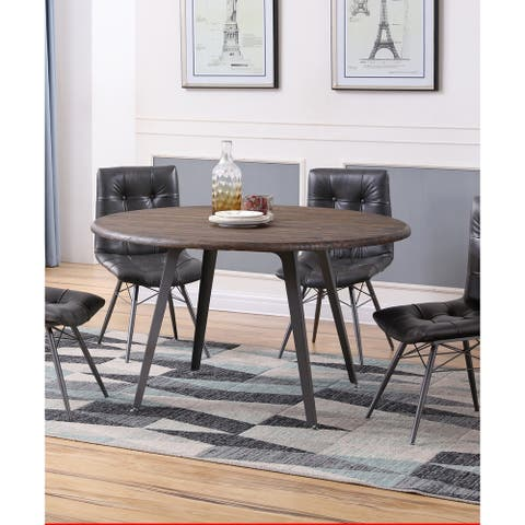 Best Master Furniture Antique Brown Round Dining Table