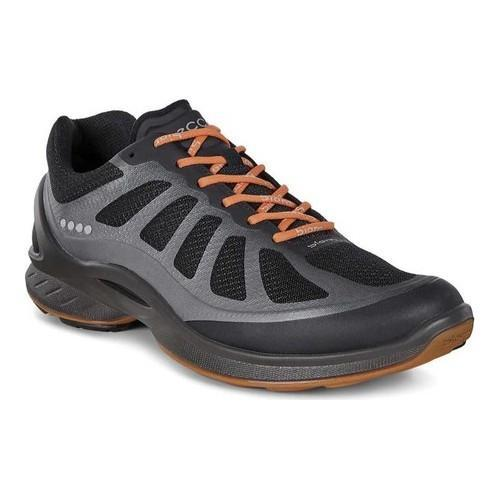 e129d1970bb0 Shop Men s ECCO Biom Fjuel Racer Sneaker Black Black Orange Leather - Free  Shipping Today - Overstock - 18604847