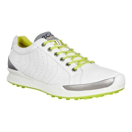 6666251653e3 Shop Men s ECCO Biom Hybrid Hydromax Golf Shoe White Lime Punch Yak Leather  - Free Shipping Today - Overstock - 18604882