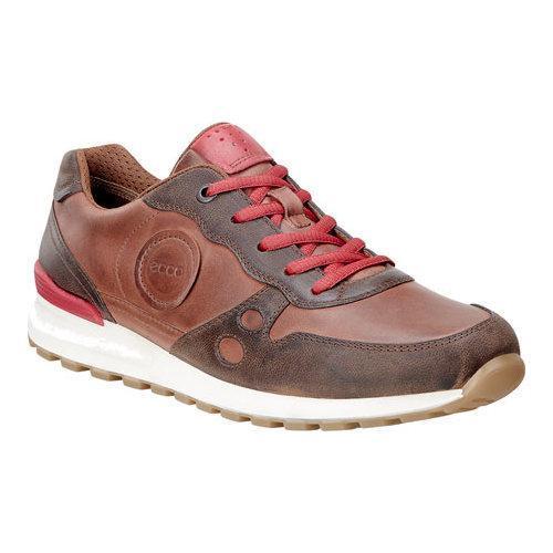 Womens Shoes ECCO CS14 Casual Sneaker Cocoa Brown/Mahogany/Tomato