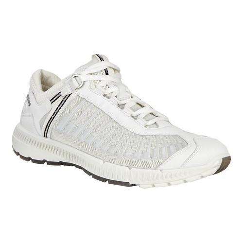 Women's ECCO Intrinsic Trail Running Sneaker White/Shadow White Yak  Leather