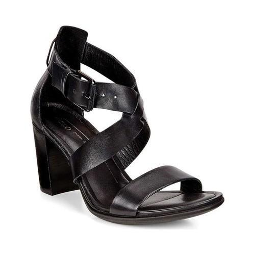 12c15e67e03b Shop Women s ECCO Shape 65 Block Sandal Black Cow Leather - Free Shipping  Today - Overstock - 18605275