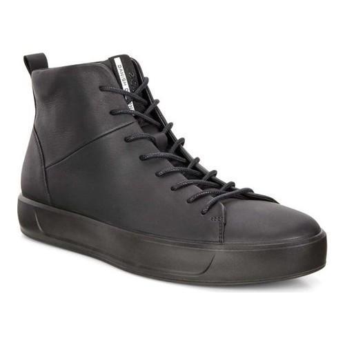 Men's ECCO Soft 8 High Top Black Cow Leather/Black