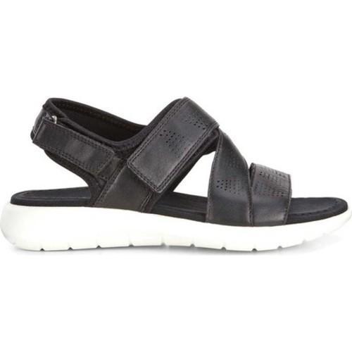 ECCO Soft 5 Cross Strap Sandal Black