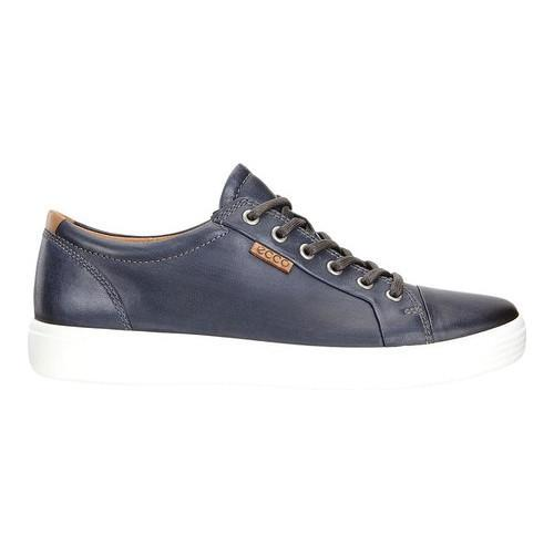 5b4f43f66b1884 Shop Men's ECCO Soft 7 Premium Tie Sneaker Moonless Full Grain Leather -  Free Shipping Today - Overstock - 18605366