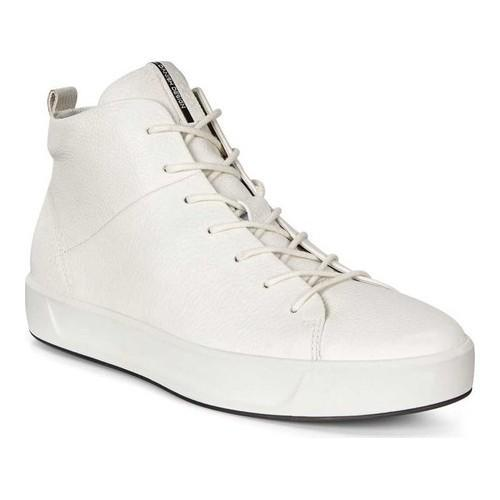 3f9b614535 Women's ECCO Soft 8 High Top White Cow Full Grain Leather